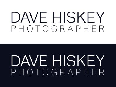 Dave Hiskey - Photographer identity design branding brand