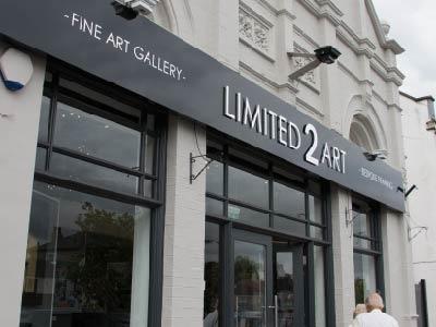Gallery Front Signage sign signage branding rebrand graphic design logo