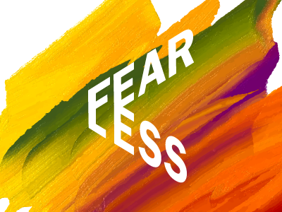 Fearless Logotype design graphic conference tedx ted branding brand fearless