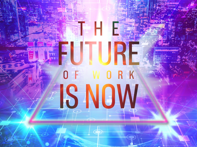 The Future of Work is Now (WIP) draft concept artwork design poster work futuristic space future