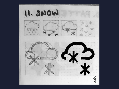 Inktober Day 11 - Snow snowing logo design logo snow logo snow icon weather icons weather icon weather ui ux icon design icondesign icon snow inktober inktober2019