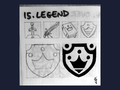 Inktober Day 15 - Legend guild emblem crown shield logo design logo ux ui icon design icondesign icon legend inktober2019 inktober