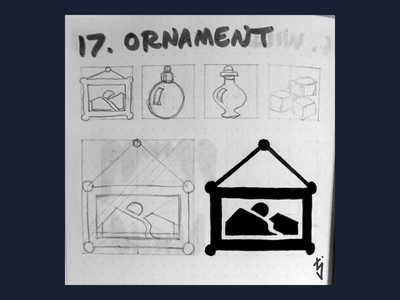 Inktober Day 17 : Ornament decoration ornament frame photo picture ui ux icondesign icon design icon inktober2019 inktober