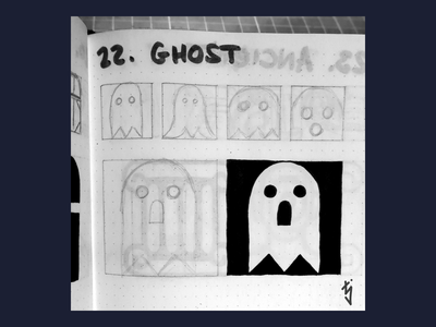 Inktober Day 22 : Ghost spooky halloween logo ui ux icon design icondesign pacman icon ghost inktober inktober2019
