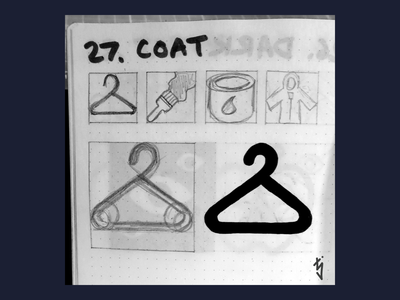 Inktober Day 27 : Coat shopping clothing icon fashion icon fashion logo design ui ux icon design icondesign icon clothing clothes coat hanger hanger coat inktober2019 inktober
