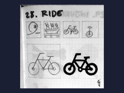 Inktober Day 28 : Ride fixie fixed gear cycling cycle logo design logodesign logo ui ux icon design icondesign icon bike bicycle ride inktober2019 inktober