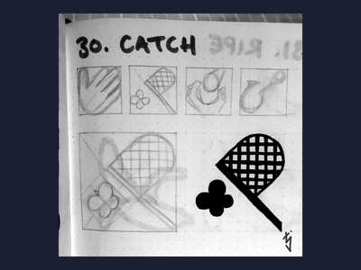 Inktober Day 30 : Catch bug net butterfly logo design logo ui ux icondesign icon catch inktober2019 inktober