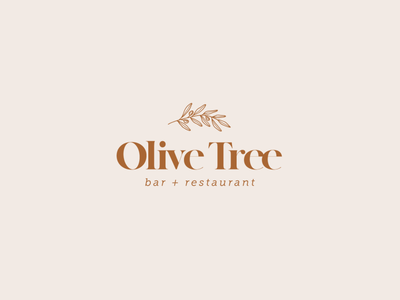 Olive Tree bar logo restaurant branding restaurant logo branding logo design design logo
