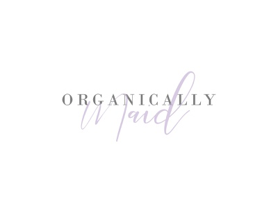 Organically Maid typography branding cleaning company design logo design logo