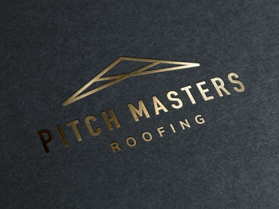 Pitchmasters Roofing construction roofing branding design logo