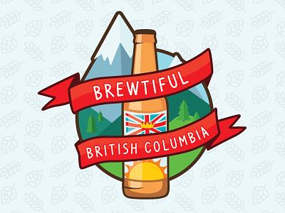 Brewtiful British Columbia beer illustration sticker