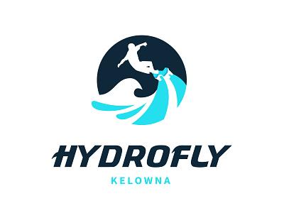 Hydrofly flyboarding watersports branding logo design design illustration logo
