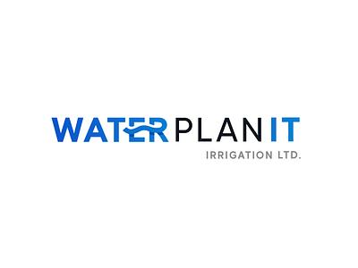 Water Plan It Irrigation branding logodesign modern logo logo design water logo