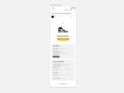 Daily UI 017_Email Receipt