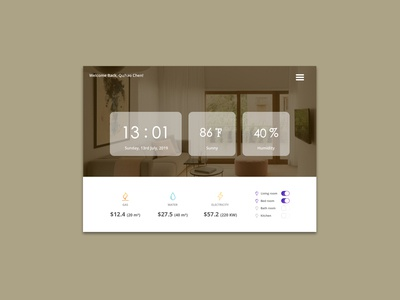 Daily UI 021_Home Monitoring Dashboard