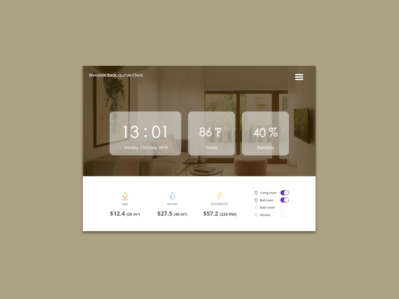 Daily UI 021_Home Monitoring Dashboard website web ux design ui