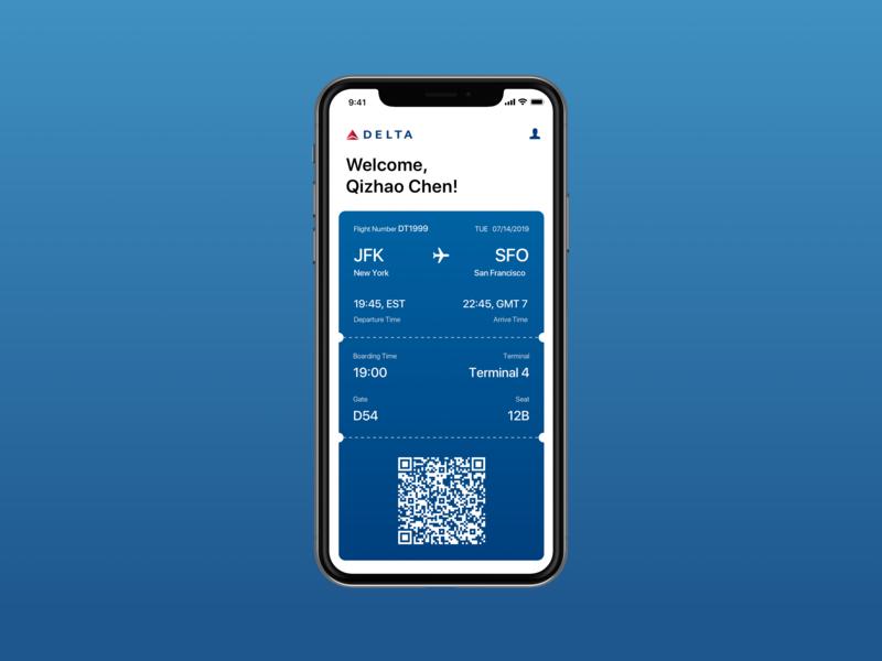 Daily UI 024_Boarding Pass app ux design ui