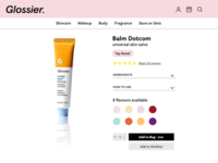 Glossier Redesign Concept