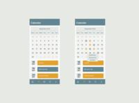 Workout App Calendar