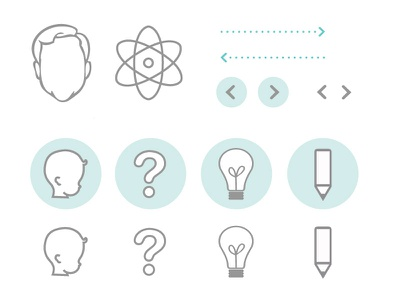 Facial Recognition Interface ui icons identity outline psychology