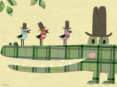 Hat Club tartan childrens art