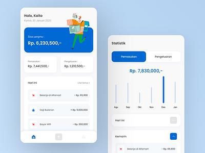 Money Management App UI Design designs money management money app mobile design mobile ui mobile ux ui app design