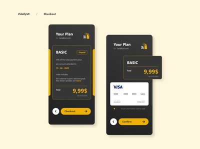 Checkout - Idea Exploration - Daily UI