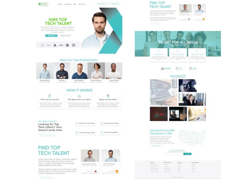 Xperti - An Arthur Lawrence Company - Website Design web ui design