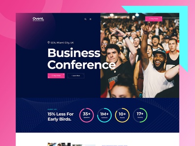 Ovent Business Conference Website