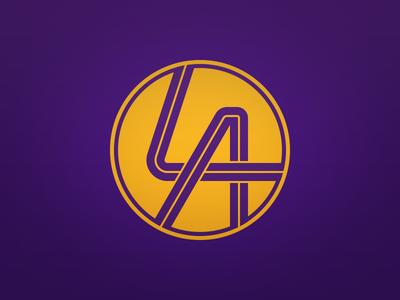 LA Lakers Alternate Logo by Derek Mack  Dribbble