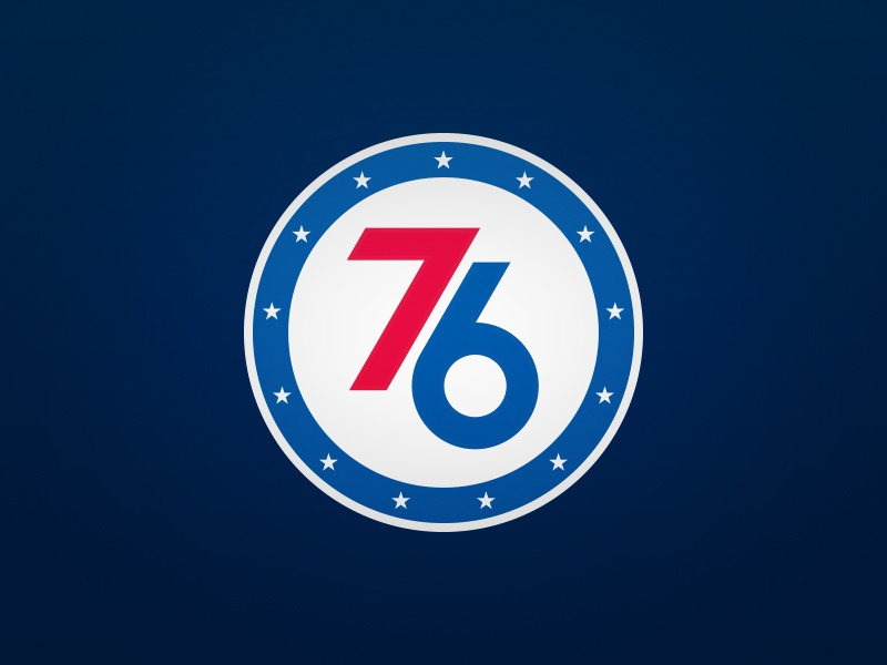 Philadelphia 76ers Alternate Logo By Derek Mack Dribbble