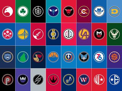 NBA Alternate Logos Complete logos alternate nba
