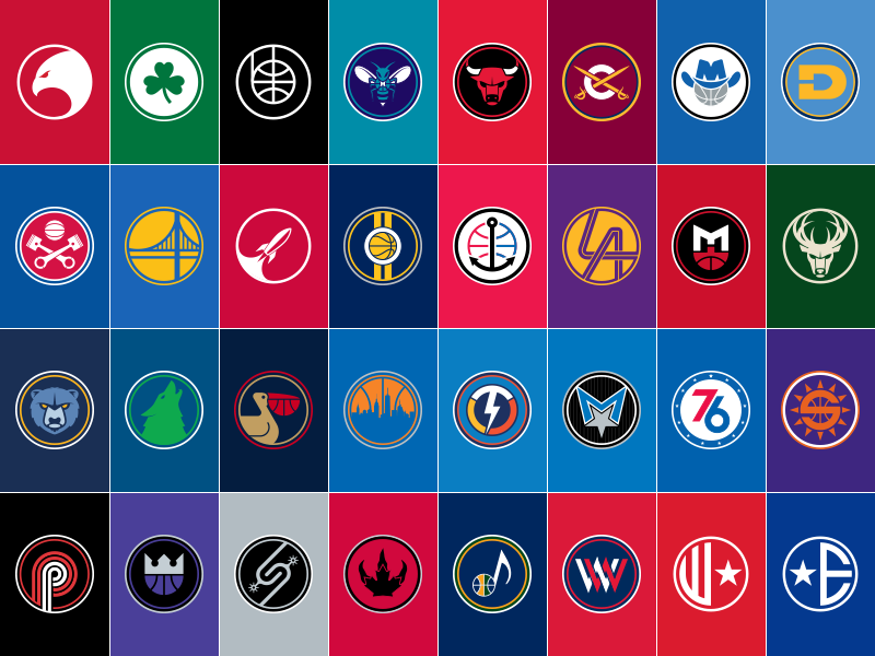Nba Logos 2017 >> Nba Alternate Logos Complete By Derek Mack On Dribbble