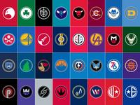 NBA Alternate Logos Complete