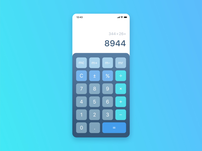 Daily Ui 004 daily 004 ежедневный интерфейс подписаться calculator interfacу calculator interface дизайн 004 dailyui