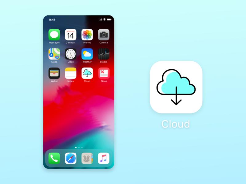 Daily Ui 005 simple design light blue dailyuichallenge icon cloud cloud icon design icon dailyui005 illustration ui 005 подписаться design дизайн dailyui
