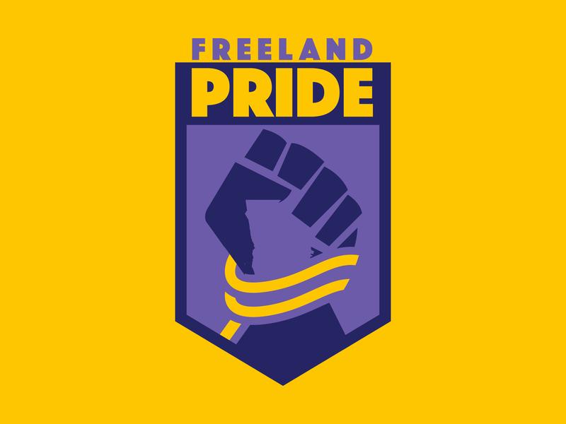 Freeland Football Club georgia comic book black lightning freeland vector football sports illustration branding logo