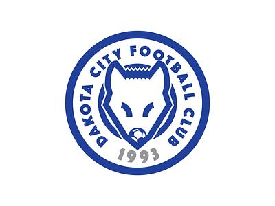 Dakota City Football Club soccer badge soccer football vector sports illustration branding logo