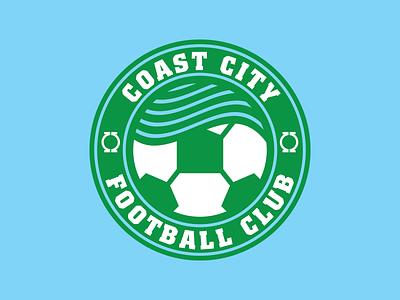 Coast City FC dc comics green lantern soccer badge soccer football vector sports illustration branding logo