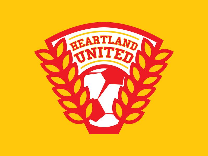 Heartland United dc comics central city soccer badge soccer football vector sports illustration branding logo
