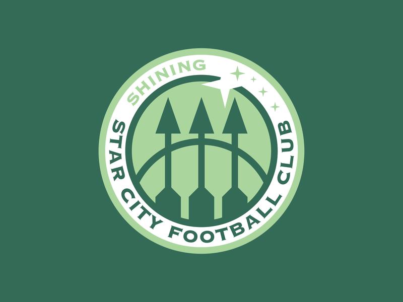 Shining Star City green arrow dc comics star city soccer badge soccer football vector sports illustration branding logo