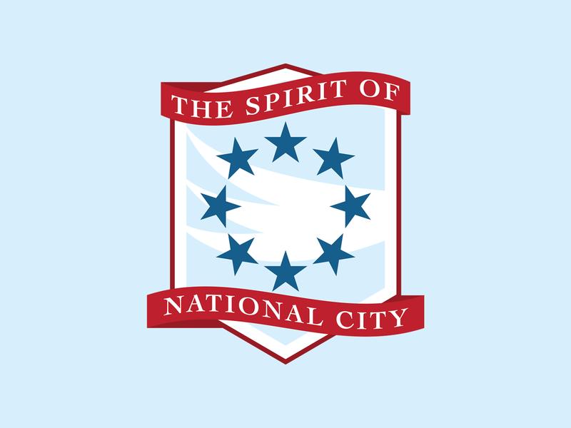 The Spirit of National City dc comics supergirl soccer badge soccer football vector sports illustration branding logo