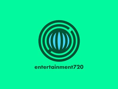 Entertainment 720 globe entertainment parks and recreation vector illustration branding logo