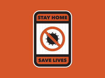 Stay Home vector sign poster health safety covid19 illustration