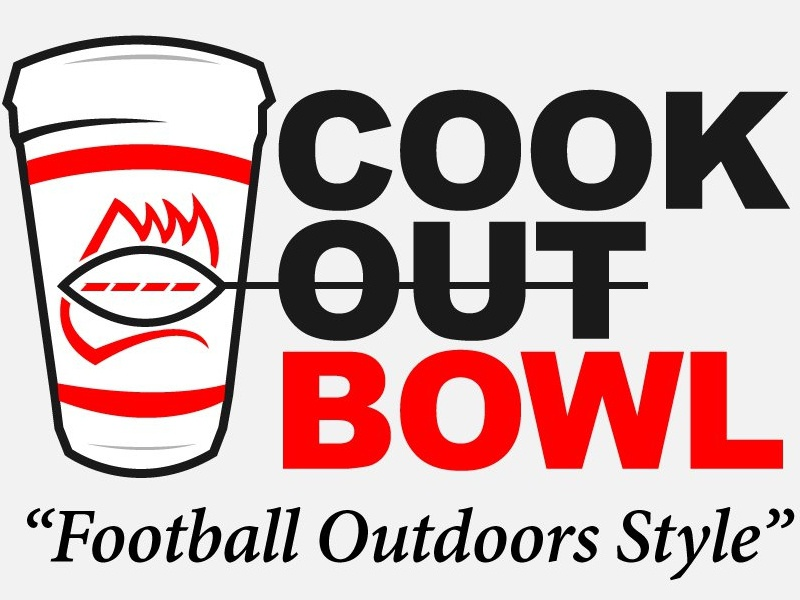 The Cookout Bowl nc cup milkshake logo branding sports football cookout