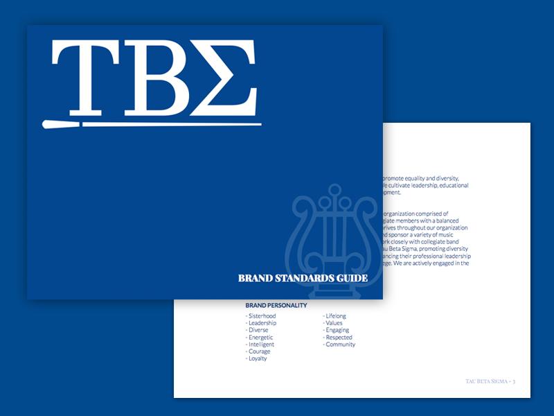 Tau Beta Sigma Brand Guidelines by Robert Bratcher
