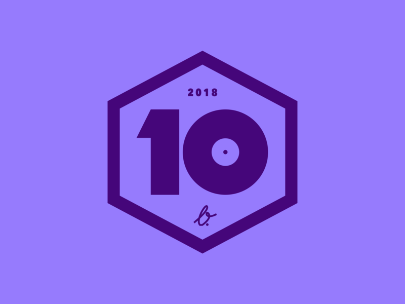 Favorite 10 Albums of 2018 icon badge 2018 top 10 design vector music illustration branding logo