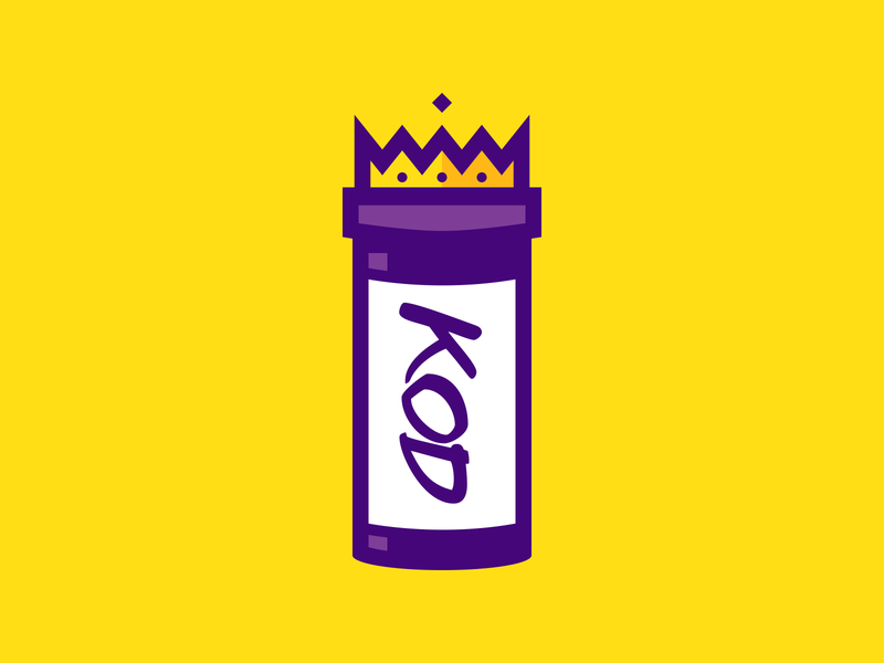 KOD (an album by J.Cole) design vector icon album crown king drug j cole rap hip hop music illustration branding logo