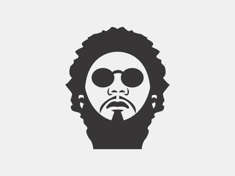 Big K.R.I.T. rap hip hop portrait face vector icon music illustration branding logo