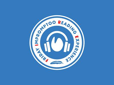 F.I.R.E. fire headphones audio listen podcast design vector illustration branding logo